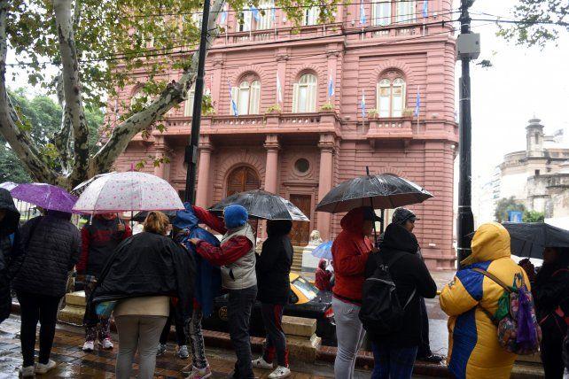 Marcha de reclamo de familiares de taxistas asesinados