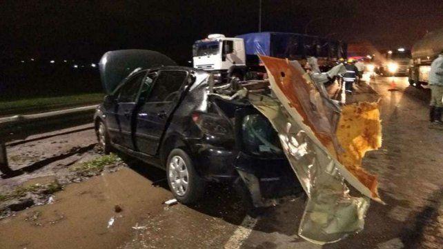 El accidente se produjo a la altura de San Lorenzo.