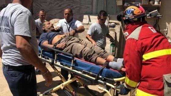 El hombre fue rescatado con un cuadro de deshidratación.