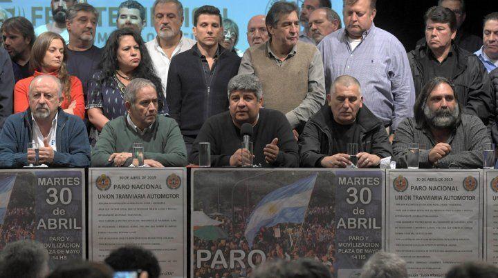Amplitud. Gremios nucleados en el Frente Sindical y las dos CTA prometen una protesta histórica.