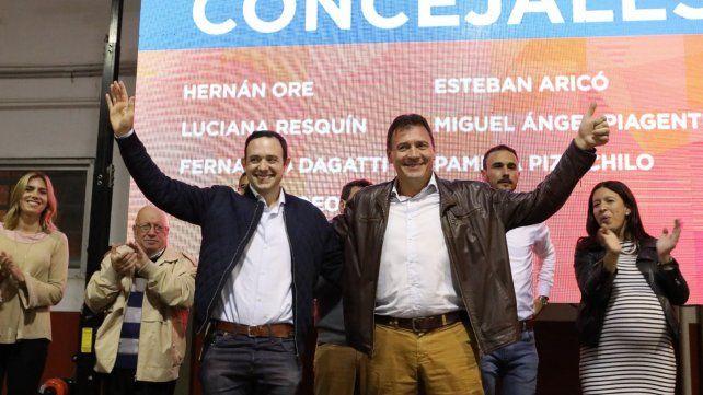 Victoriosos. Hernán Ore y Leonardo Raimundo