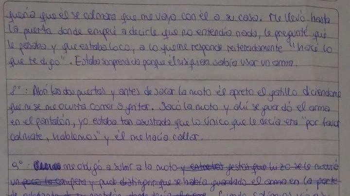 Filtran una inédita carta de Nahir Galarza sobre la violencia de Fernando Pastorizzo
