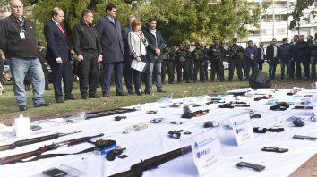 Incautaron 22 armas por las balaceras contra la Justicia