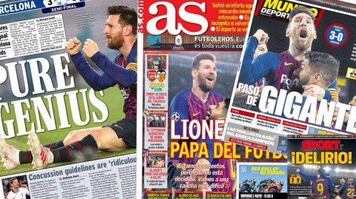 A los pies del mejor del mundo: Messi