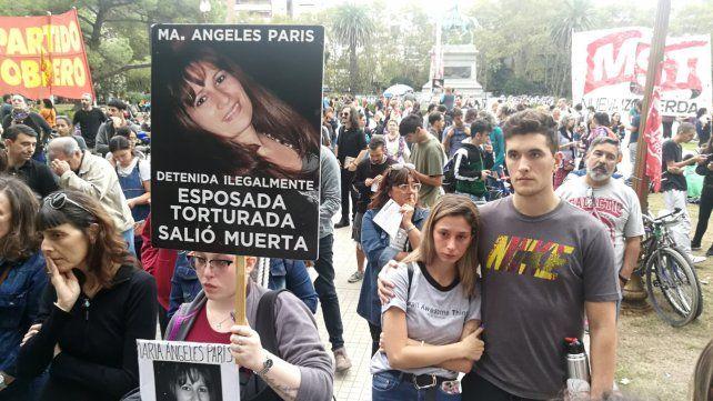 Pedido de justicia. Manifestación en la plaza San Martín.