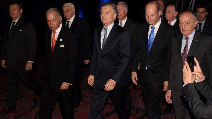 A favor. El presidente Mauricio Macri logró el apoyo de importantes empresarios en torno a su propuesta.