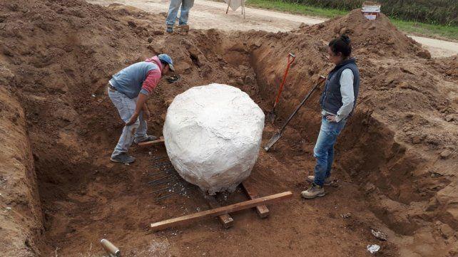 San José de la Esquina: hallaron restos fósiles de un gliptodonte