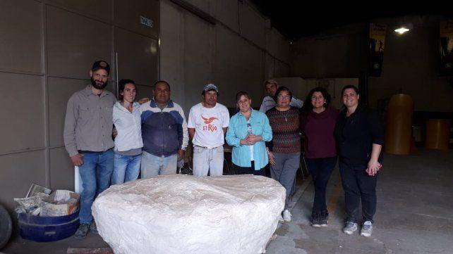 Hallan restos fósiles de un gliptodonte en un camino rural de San José de la Esquina