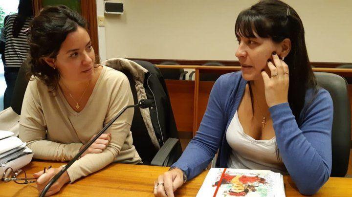 Acusadoras. Las fiscales Alejandra Del Río Ayala y Celeste Minniti.