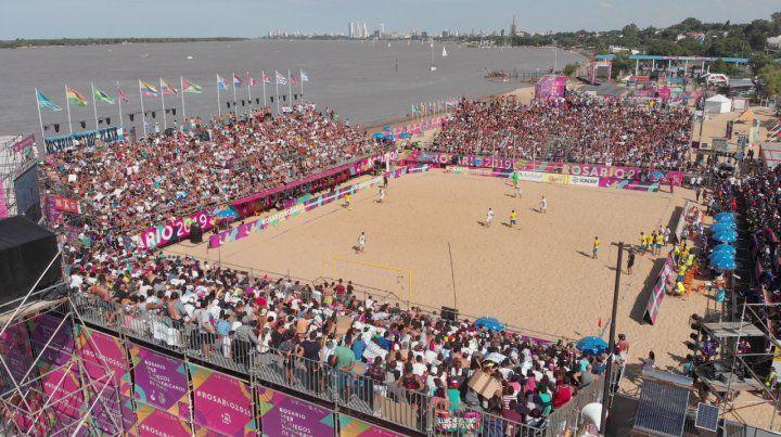En La Florida. Los Juegos Suramericanos de Playa se llevaron a cabo en Rosario