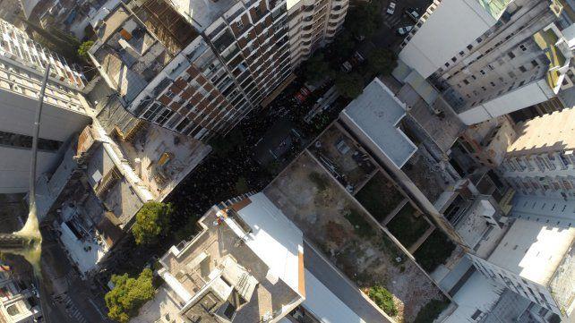 El hueco. El lugar donde estaban las torres que colapsaron.