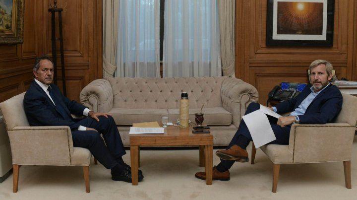 Scioli se reunió ayer con Frigerio por el acuerdo