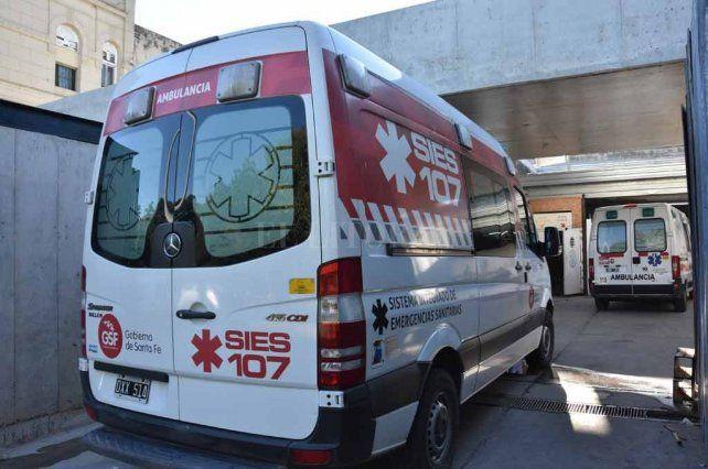 El recluso fue trasladado en un móvil del SIES hasta el hospital Cullen.