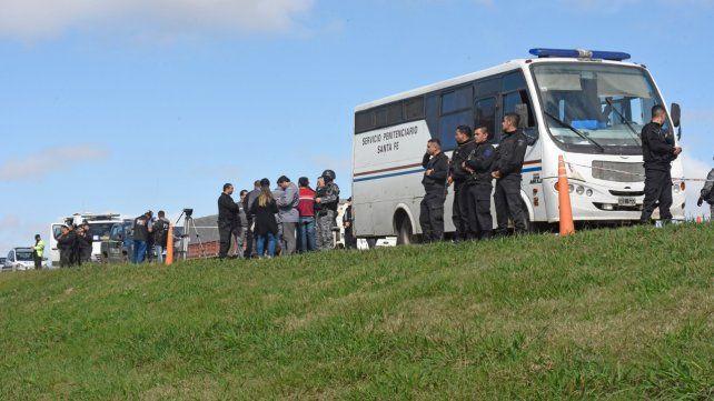 En la banquina. 9 presos escaparon el miércoles