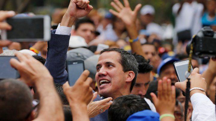 Debilitado. Guaidó en Caracas. La persecución del chavismo contra sus diputados lo ha debilitado.
