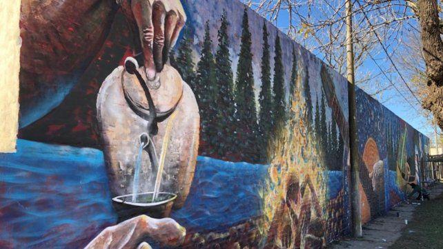 Arte y pertenencia. Los paredones de Serodino cambiaron su fisonomía. Ahora