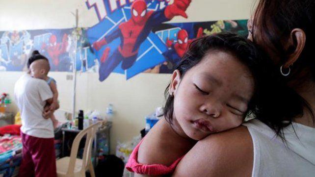 Enfermedad virósica. Chicos enfermos de sarampión en un centro de internación.