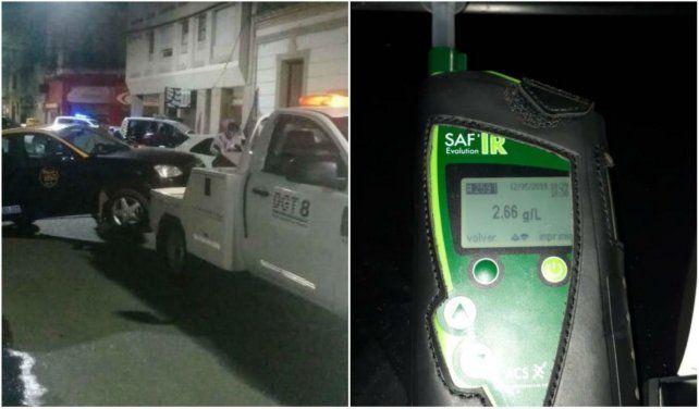 El conductor de un taxi fue interceptado por la GUM cuando realizaba maniobras peligrosas y se comprobó que estaba alcoholizado.