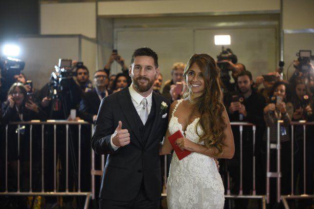 Lionel Messi y Antonela Roccuzzo se casaron el 30 de junio de 2017 en Rosario.