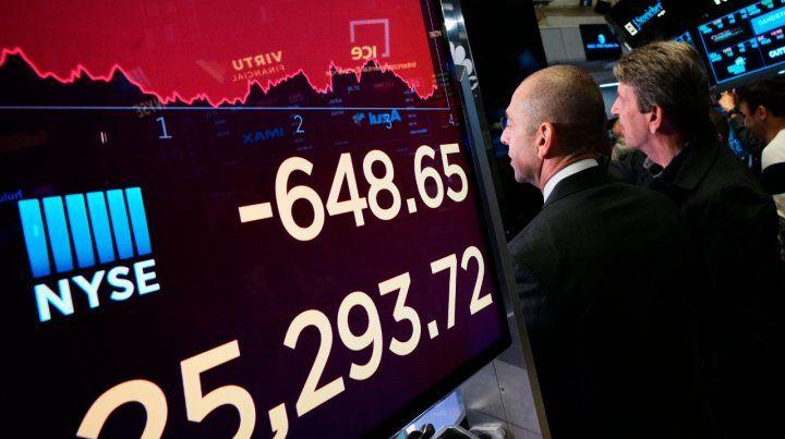 Mal día. En Wall Street el Dow Jones bajó 2