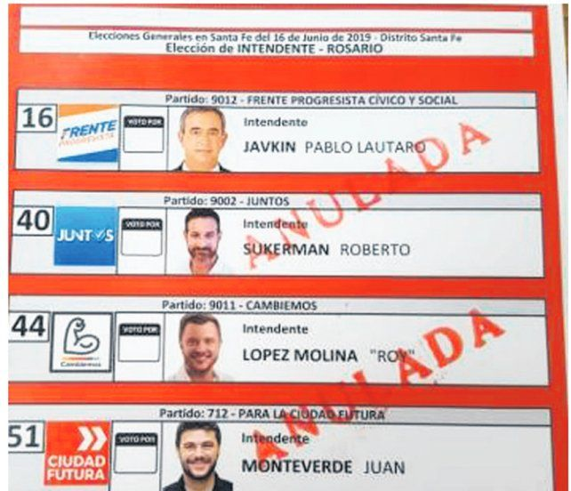 Cómo son las boletas para las elecciones generales en Santa Fe