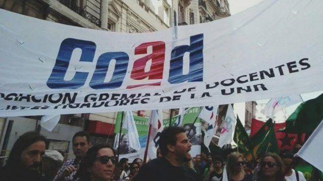 Los docentes nucleados en COAD paran 48 horas. (Foto de archivo)