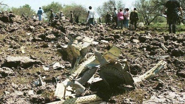 Fray Bentos. El vuelo 2553 de Austral cayó el 10 de octubre de 1997.