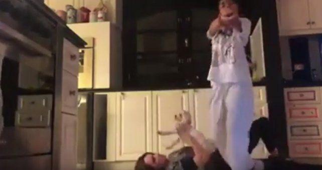 El desopilante video de Verónica Lozano y su hija bailando La cobra