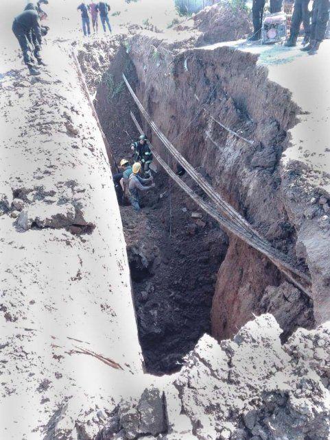 Hallan muerto al obrero que quedó sepultado en el pozo en el que trabajaba en la ruta 34