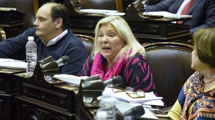 Carrió insultó a Massot en los pasillos del Congreso