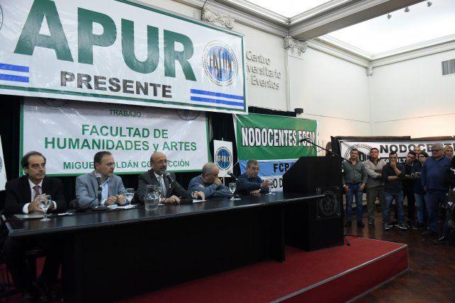 Directivos de Apur recibieron al rector de la UNR