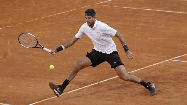 Del Potro ganó en su jornada doble y va por Djokovic