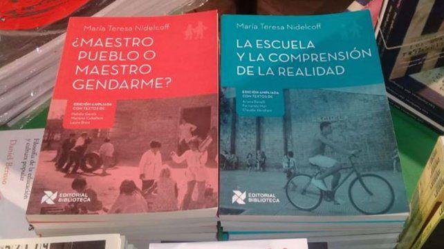Reeditan dos libros de María Teresa Nidelcoff