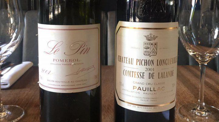Las etiquetas de las botellas que confundió el mozo son muy similares.
