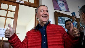 Juan Schiaretti viene de celebrar un aplastante triunfo en las urnas.