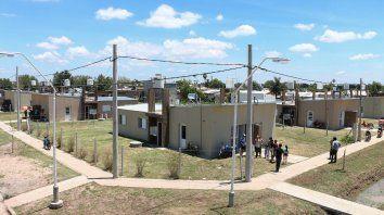 En marcha. Muchas viviendas ya están terminadas y de otras en días se les entregarán las llaves a los beneficiarios.