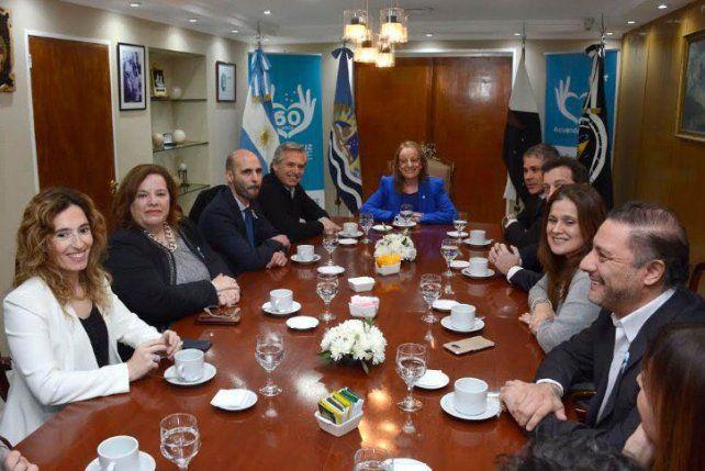 Alberto Fernández se reunió con Alicia Kirchner en Santa Cruz