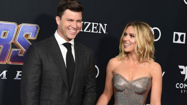 Enamorados. Scarlett Johansson y su novio
