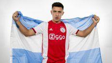 Presentación. Martínez, ex Newells y desde ayer en Ajax.