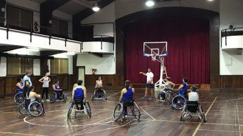 Venado: entrena 3 días la selección de básquet adaptado