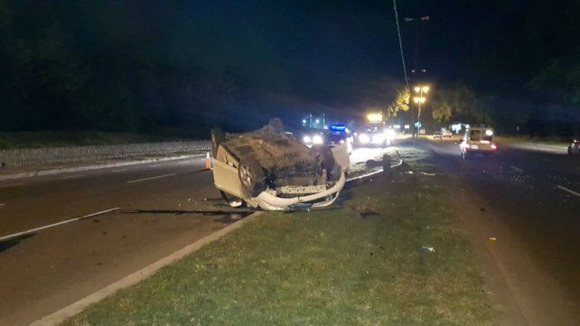 El accidente ocurrió sobre avenida Circunvalación