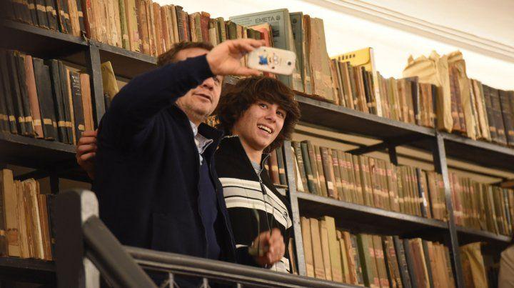 Reinauguración de la Biblioteca Argentina