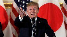 Un duro. Mientras sostiene la guerra comercial con China, visita Japón