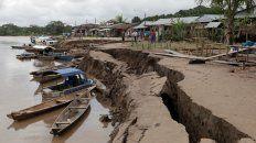 Yurimaguas. El terremoto afectó ayer la zona de Puerto Santa Gema.