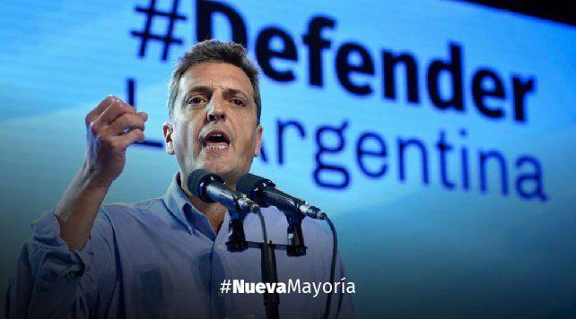 Massa va por una coalición que pueda ganarle a Macri
