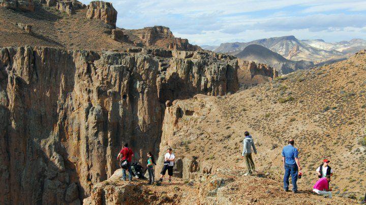 Inmensidad. La historia cuenta que el Cañadón de la Buitrera fue la caldera de un volcán prehistórico