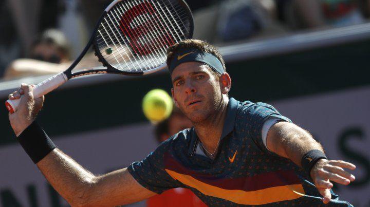 Del Potro se metió en los octavos de final de Roland Garros