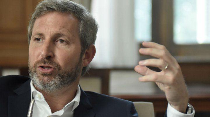 Frigerio. El ministro propone ampliar la coalición de gobierno.