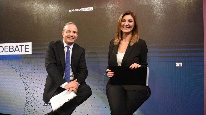Conductores. Sergio Roulier y Sonia Marchesi mostraron su oficio.