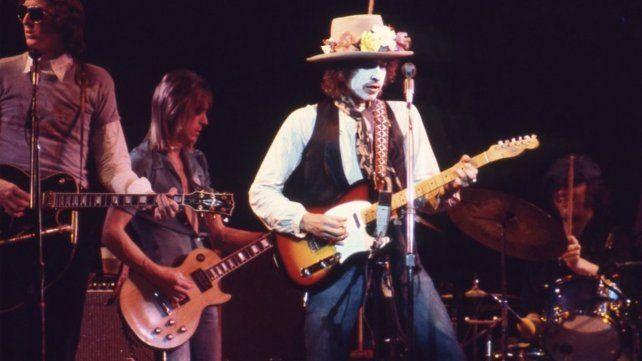 De gira. Dylan recorrió Estados Unidos y Canadá entre 1975 y 1976.